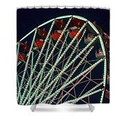 Ferris Wheel After Dark Shower Curtain