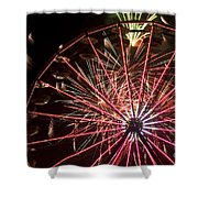 Ferris Wheel And Fireworks Shower Curtain