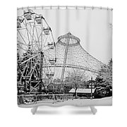 Ferris Wheel And R F P Pavilion - Spokane Washington Shower Curtain