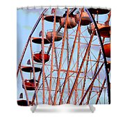 Ferris Wheel At Sunset Shower Curtain