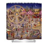 Ferris Wheel At The Carnival Shower Curtain