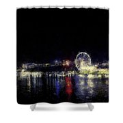 Ferris-wheel At The River Shower Curtain