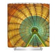 Ferris Wheel Evergreen State Fair Shower Curtain