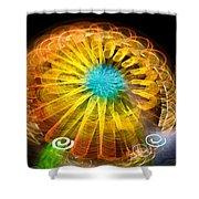 Ferris Wheel Flower Shower Curtain