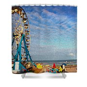 Ferris Wheel On A Gorgeous Day Shower Curtain