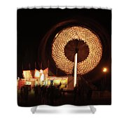 Ferris Wheel Spin Shower Curtain