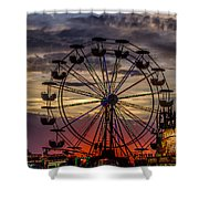 Ferris Wheel Sunset Shower Curtain