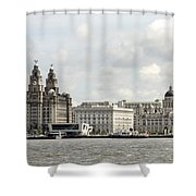 Ferry At Liverpool Shower Curtain