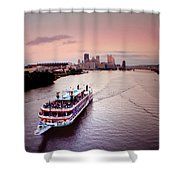 Ferry Boat At The Point In Pittsburgh Pa Shower Curtain