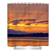 Ferry Crossing Sunset Shower Curtain