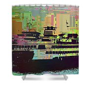 Ferry Cubed 2 Shower Curtain