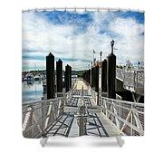 Ferry Dock Shower Curtain