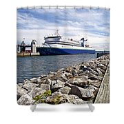 Ferry From North Sydney-ns To Argentia-nl Shower Curtain