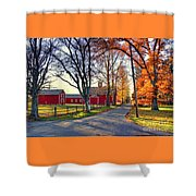 Ferry Lane November Sunset Shower Curtain