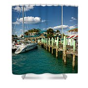 Ferry Station Paradise Island Shower Curtain