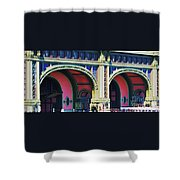 Ferry Terminal Arches At The Battery, New York Shower Curtain