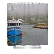 Ferryland Harbour-nl Shower Curtain