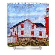 Ferryland Lighthouse In Newfoundland Shower Curtain