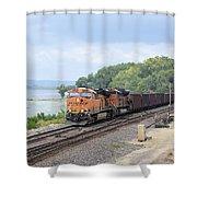 Ferryville Train Shower Curtain
