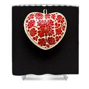 Festive Heart Shower Curtain