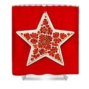 Festive Star Shower Curtain