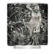 Fetching Water Shower Curtain by Patrick M Lynch