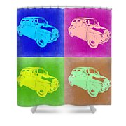 Fiat 500 Pop Art 2 Shower Curtain