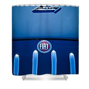 Fiat 750 Mm Zagato Panoramica Coupe Grille Emblem Shower Curtain