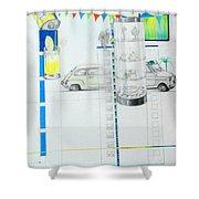 Fiat Cinquecento Shower Curtain