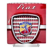 Fiat Emblem 2 Shower Curtain by Jill Reger