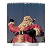 Fiberglass Santa Claus Shower Curtain