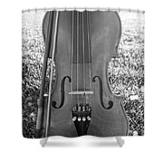 Fiddle And Bow Bw Shower Curtain