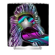 Fiddler In The Band Electric Shower Curtain