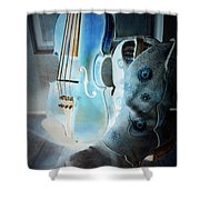 Fiddler's Glow Shower Curtain