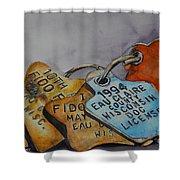 Fido Fun Run Shower Curtain
