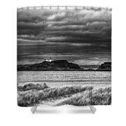 Fidra Island Lighthouse Shower Curtain