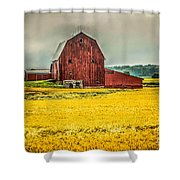 Field And Barn Shower Curtain