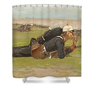 Field Drill For The Prussian Infantry  Shower Curtain