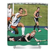 Field Hockey Hurdle Shower Curtain