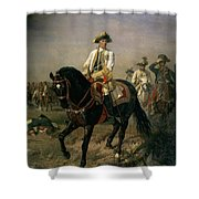 Field Marshal Baron Ernst Von Laudon 1717-90, General In The Seven Years War And War Of Bavarian Shower Curtain