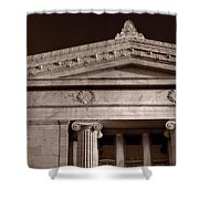 Field Museum Of Chicago Bw Shower Curtain