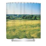Field Near Barnstaple, North Devon Shower Curtain