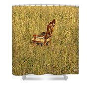 Field Of Chair Shower Curtain