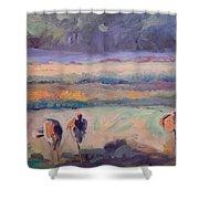 Field Of Crane Shower Curtain