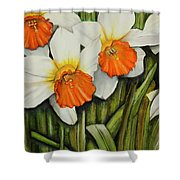 Field Of Daffodils Shower Curtain