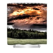 Field Of Dreams From Rain Above  Shower Curtain