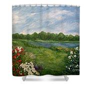 Field Of Flowers Shower Curtain