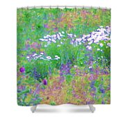 Field Of Flowers In Nature Shower Curtain
