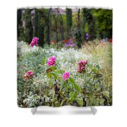 Field Of Flowers On A Rainy Day Shower Curtain