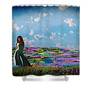 Field Of Flowers... Shower Curtain